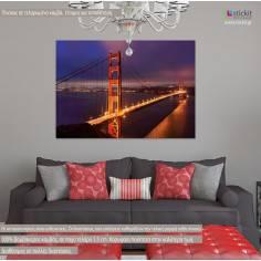 Golden Gate Bridge, πίνακας σε καμβά