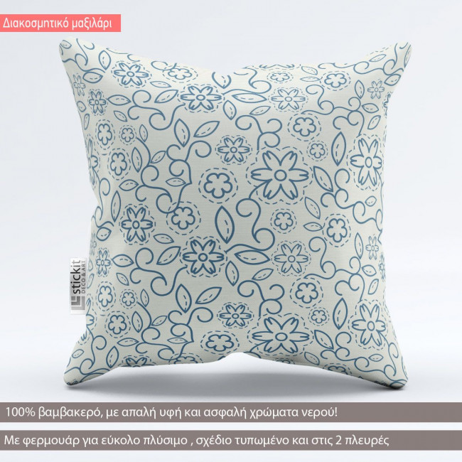 Floral μοτίβα art 1, διακοσμητικό μαξιλάρι