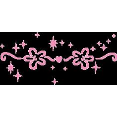 Λουλουδια & αστέρια, αυτοκόλλητο τοίχου