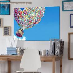 Balloon house, παιδικός - βρεφικός πίνακας σε καμβά