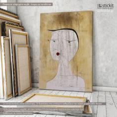 Sealed woman, Paul Klee, αντίγραφο - αναπαραγωγή πίνακα σε καμβά