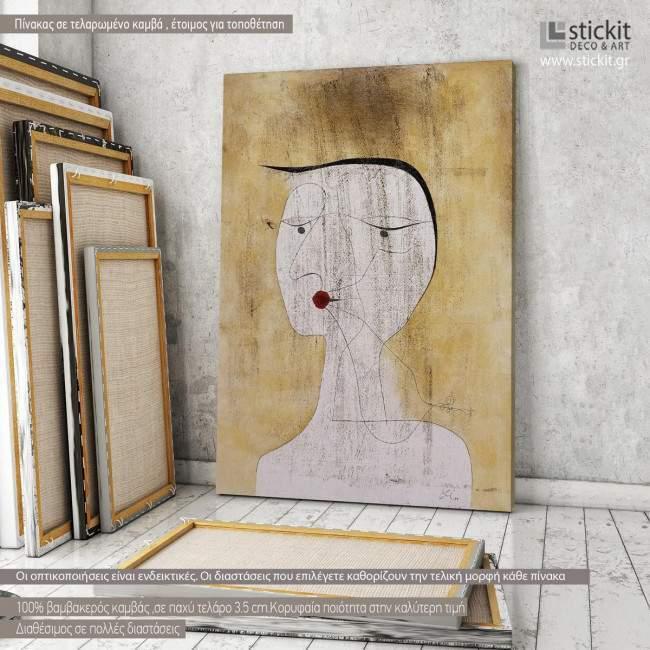 Sealed woman, Paul Klee, αναπαραγωγή σε καμβά , κάθετο