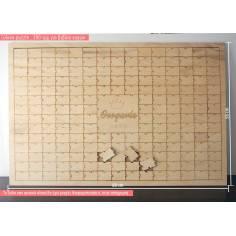 Puzzle με κομμάτια ~ 6 Χ 4 cm & όνομα , για ξύλινο βιβλίο ευχών