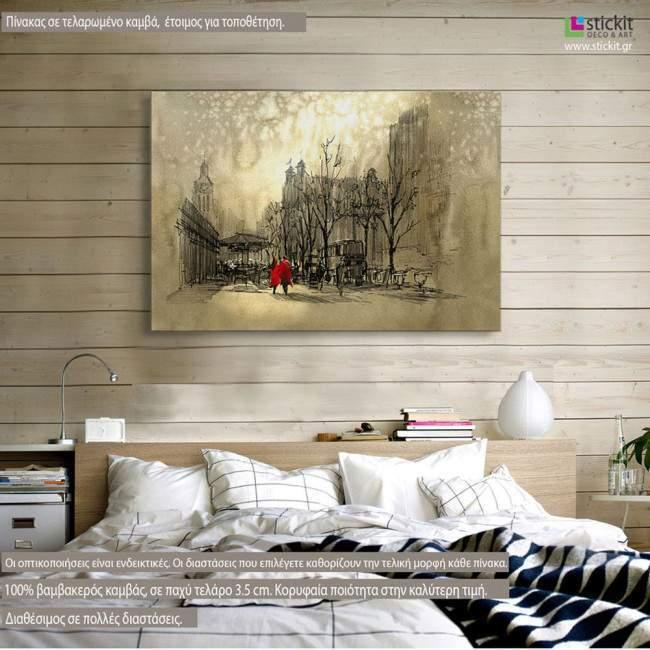 Under the moonlight, πίνακας σε καμβά