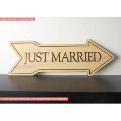 Πινακίδα JUST MARRIED ξύλινη