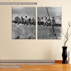 Men at lunch, δίπτυχος πίνακας σε καμβά (multipanel)