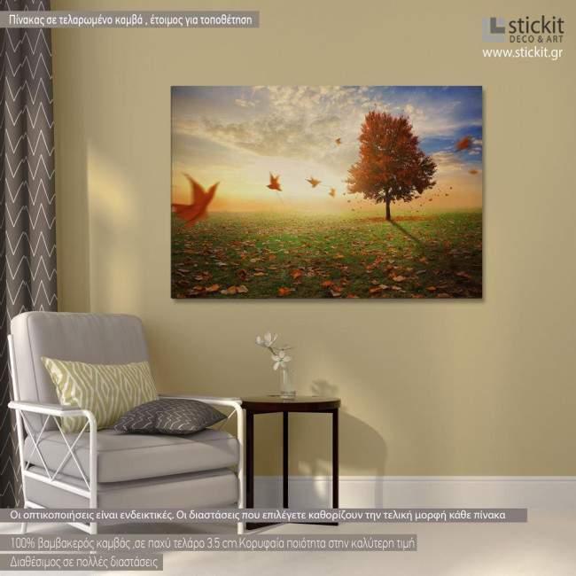 Maple tree in autumn, πίνακας σε καμβά