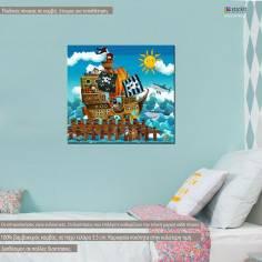 Pirate ship, Τετράγωνος παιδικός - βρεφικός πίνακας σε καμβά