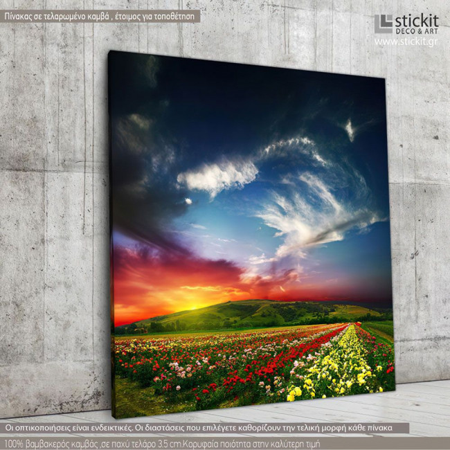 Colorful nature, Τετράγωνος πίνακας σε καμβά