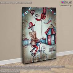 Acrobatic performers, πίνακας σε καμβά