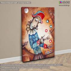 A clown, πίνακας σε καμβά