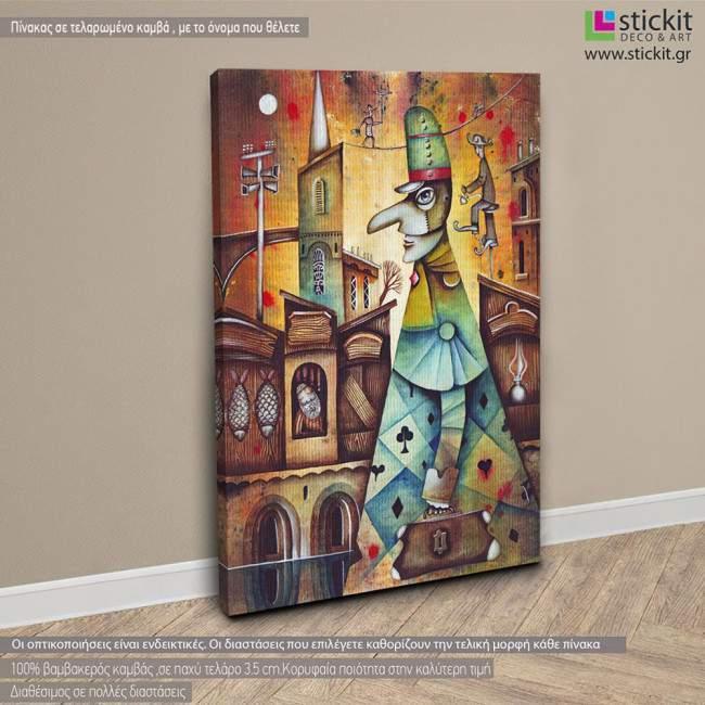 Medieval doctor, πίνακας σε καμβά