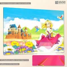 The princess, παιδικός - βρεφικός πίνακας σε καμβά