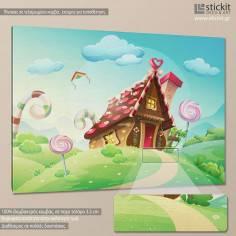 Sweet house, παιδικός - βρεφικός πίνακας σε καμβά
