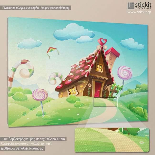Sweet house, πίνακας σε καμβά