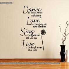 Dance as though, αυτοκόλλητο τοίχου