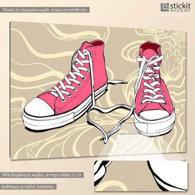 Sneaker art, πίνακας σε καμβά