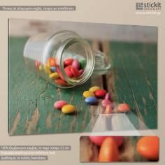 Smarties in jar, πίνακας σε καμβά