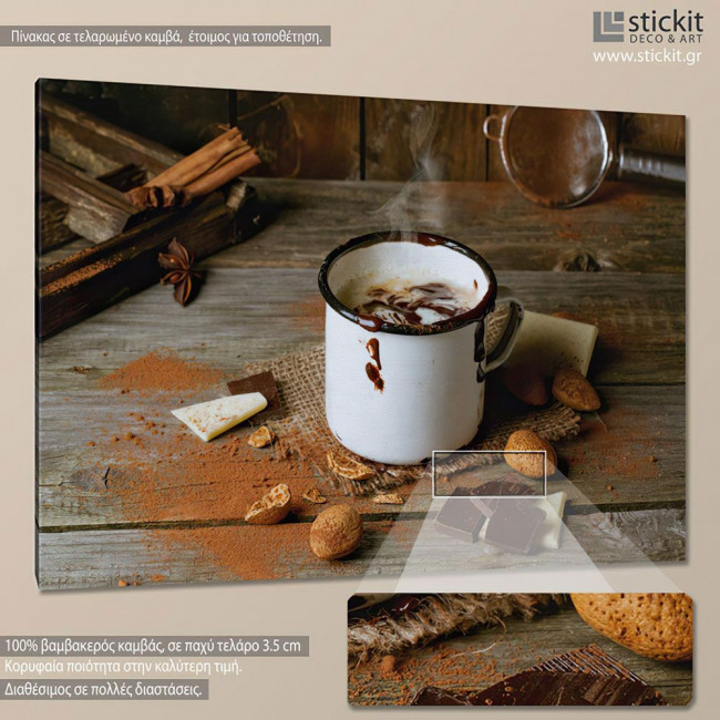Hot chocolate, πίνακας σε καμβά