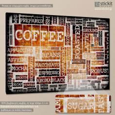 Coffee typography, πίνακας σε καμβά
