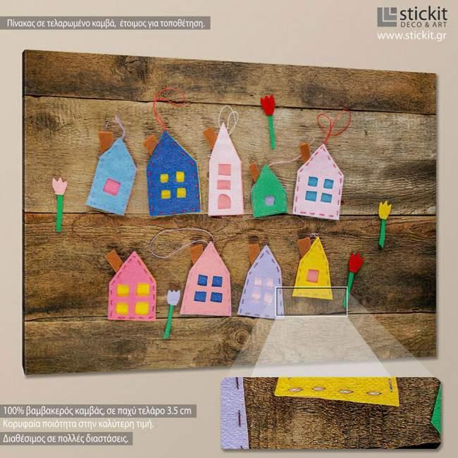 Little houses, πίνακας σε καμβά