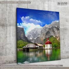 Alpine scenery, Τετράγωνος πίνακας σε καμβά