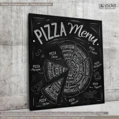 Pizza menu, Τετράγωνος πίνακας σε καμβά