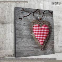 Heart from fabrick, Τετράγωνος πίνακας σε καμβά