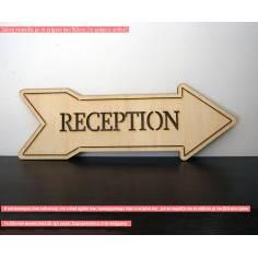 Πινακίδα βέλος με το κείμενο που θέλετε, ξύλινη, stencil