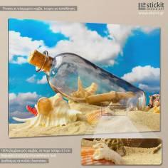 Message in a bottle, πίνακας σε καμβά