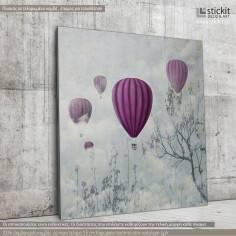 Balloons in the clouds, Τετράγωνος πίνακας σε καμβά