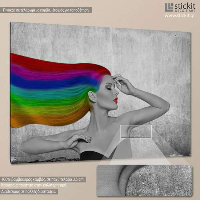 Rainbow beauty, πίνακας σε καμβά