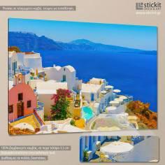 Colors of Greece, Oia - Santorini, πίνακας σε καμβά