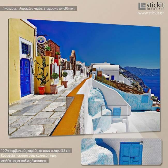 Colors of Greece - Santorini, πίνακας σε καμβά