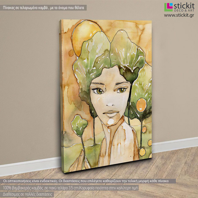 Beautiful young woman, πίνακας σε καμβά