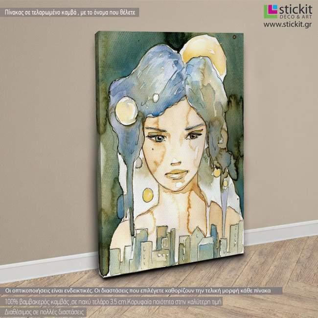 Beautiful woman, πίνακας σε καμβά