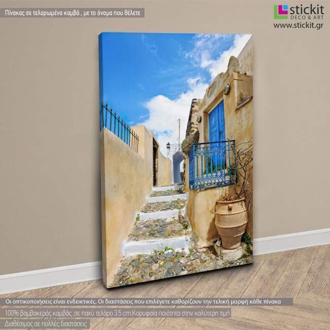 Tradional house in Pyrgos, πίνακας σε καμβά