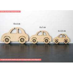 Αυτοκινητάκι, ξύλινη φιγούρα διακοσμητική