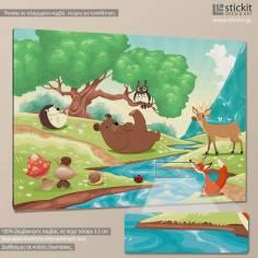 Countryside, παιδικός - βρεφικός πίνακας σε καμβά
