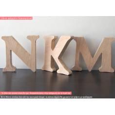 Ξύλινο γράμμα για μπομπονιερα, παχύ ξύλο 1,6 cm
