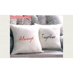 Always Together, μαξιλάρια με κεντημένες φράσεις