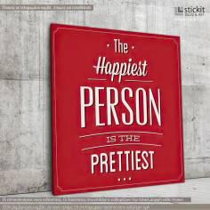 The happiest person..., Τετράγωνος πίνακας σε καμβά