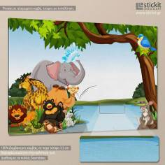 Animal friends, παιδικός - βρεφικός πίνακας σε καμβά