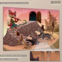 Animal music, παιδικός - βρεφικός πίνακας σε καμβά