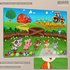 Cute farm animals, παιδικός - βρεφικός πίνακας σε καμβά