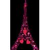 Ερωτας στον πύργο του Αιφελ Μαύρο | Αυτοκόλλητο τοίχου