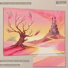 Fairie's castle, παιδικός - βρεφικός πίνακας σε καμβά