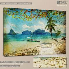 Beach vintage, πίνακας σε καμβά
