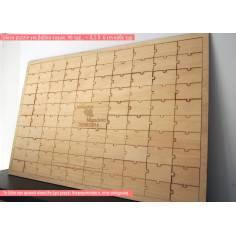 Puzzle με κομμάτια ~ 8,5 Χ 6 cm & όνομα , για ξύλινο βιβλίο ευχών