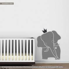 Αυτοκόλλητα τοίχου παιδικά, επιβλητικός ελέφαντας, King elephant